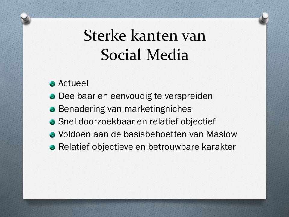 Sterke kanten van Social Media