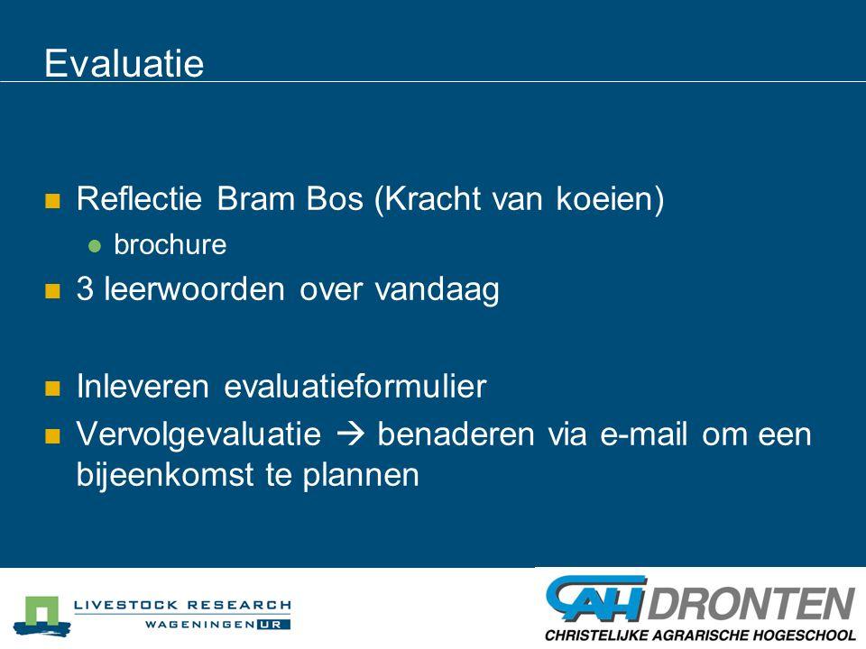 Evaluatie Reflectie Bram Bos (Kracht van koeien)