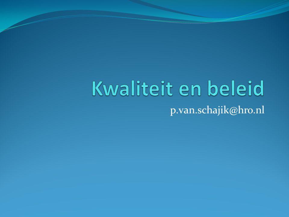 Kwaliteit en beleid p.van.schajik@hro.nl