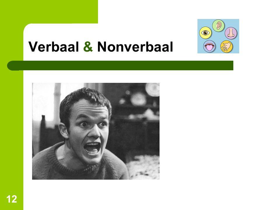 Verbaal & Nonverbaal Wat zie je als je naar deze man kijkt