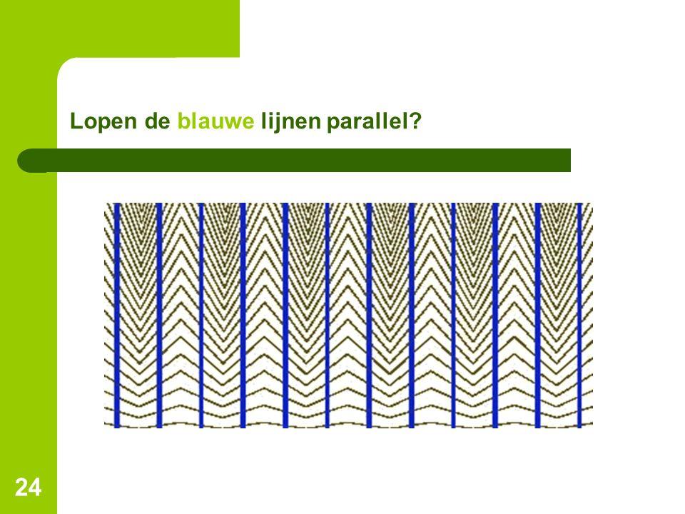 Lopen de blauwe lijnen parallel