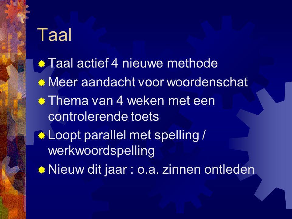 Taal Taal actief 4 nieuwe methode Meer aandacht voor woordenschat