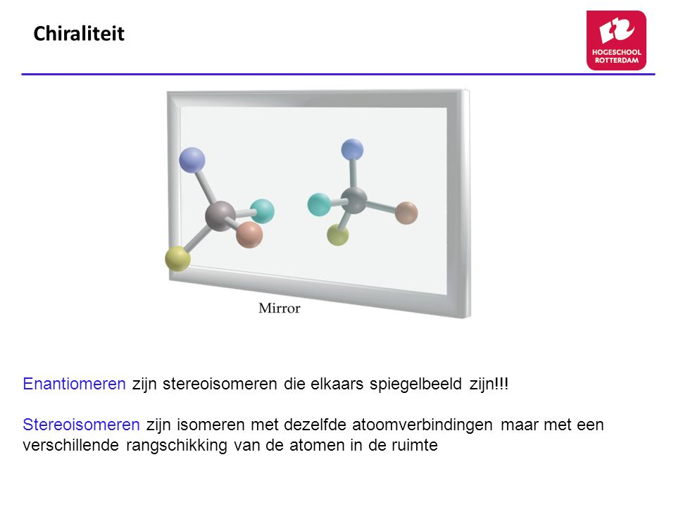 Chiraliteit Figure: 24-04. Title: Enantiomers. Caption: