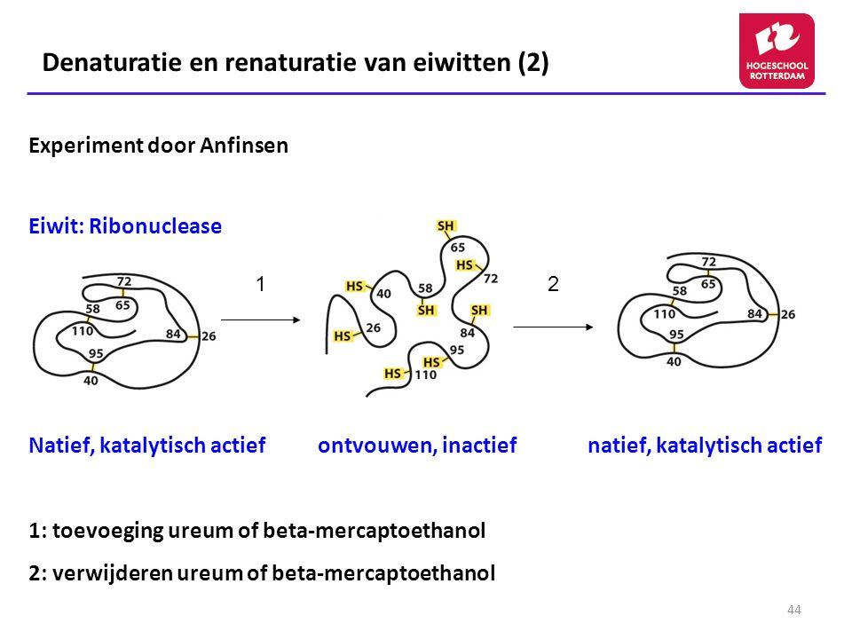 Denaturatie en renaturatie van eiwitten (2)