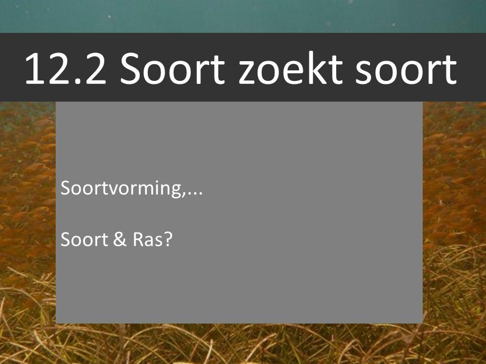 12.2 Soort zoekt soort Soortvorming,... Soort & Ras