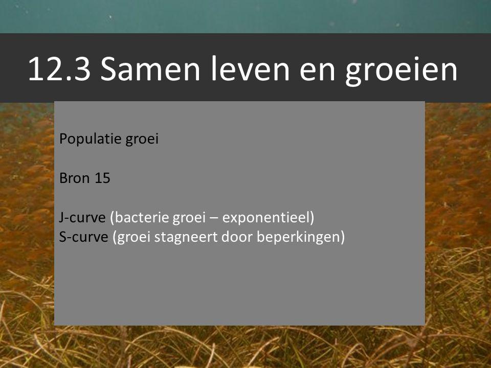 12.3 Samen leven en groeien Populatie groei Bron 15