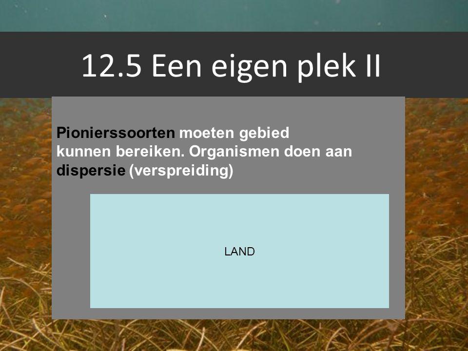 12.5 Een eigen plek II Pionierssoorten moeten gebied