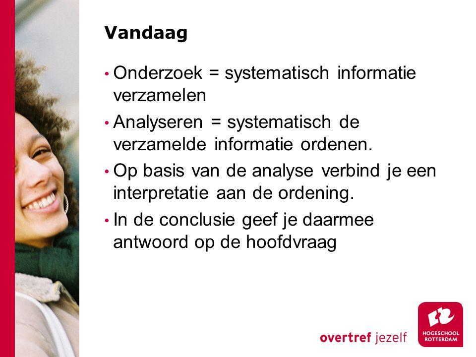 Onderzoek = systematisch informatie verzamelen