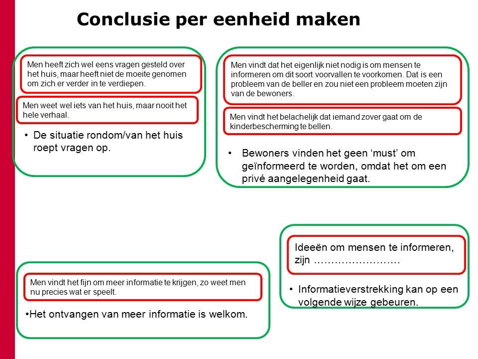 Conclusie per eenheid maken