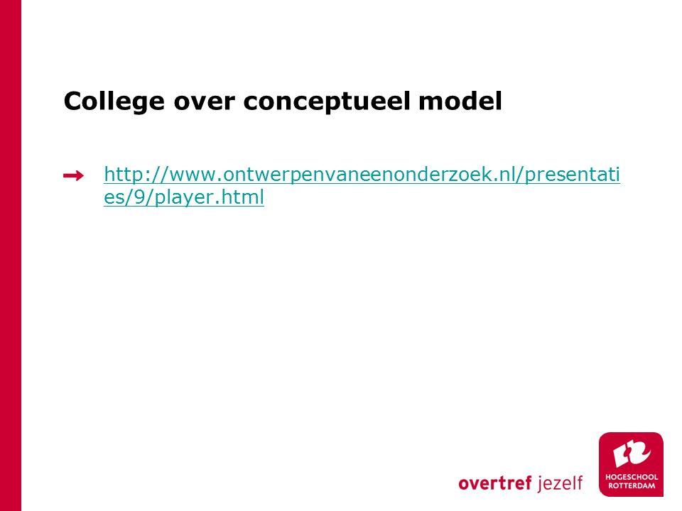 College over conceptueel model