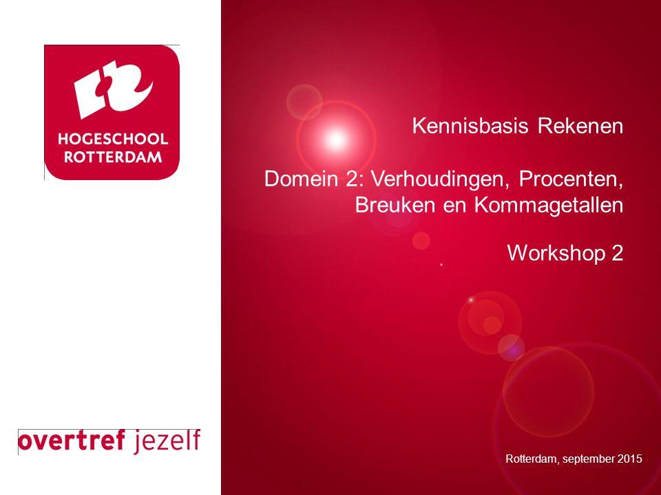 Presentatie titel Kennisbasis Rekenen