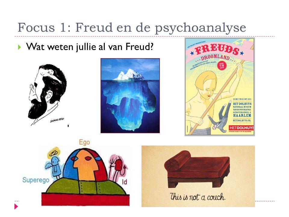Focus 1: Freud en de psychoanalyse