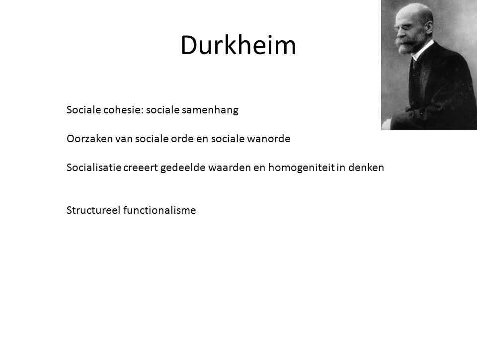 Durkheim Sociale cohesie: sociale samenhang