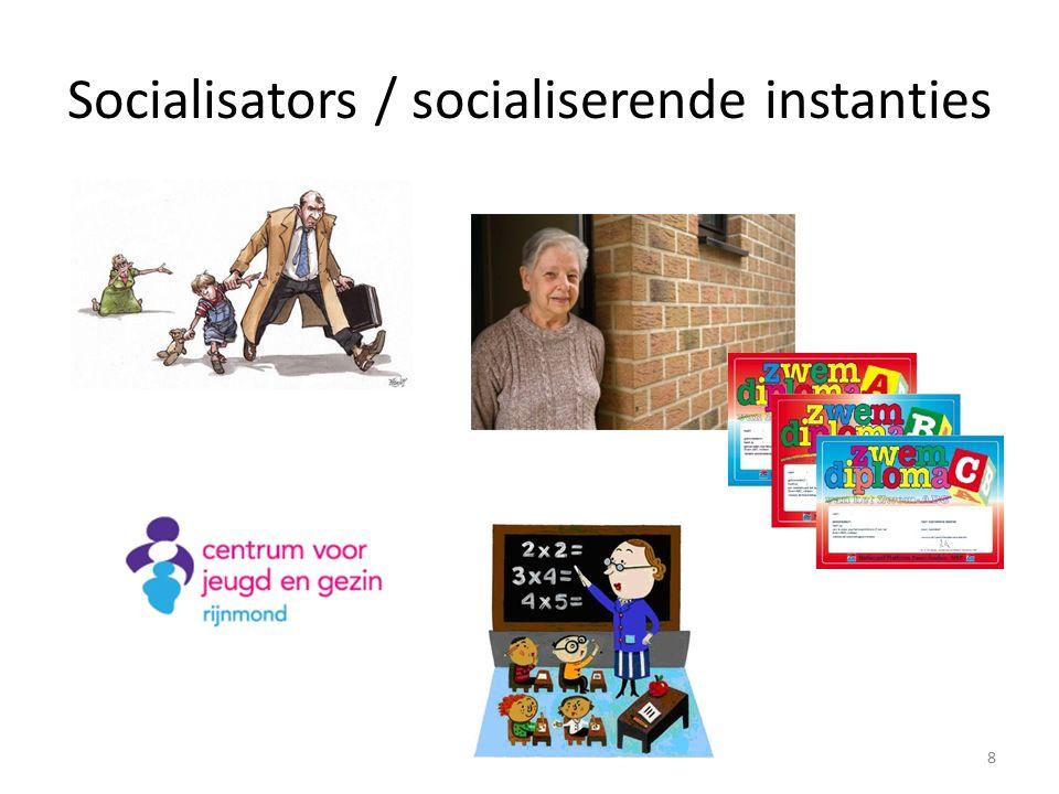 Socialisators / socialiserende instanties