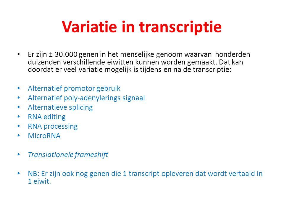 Variatie in transcriptie