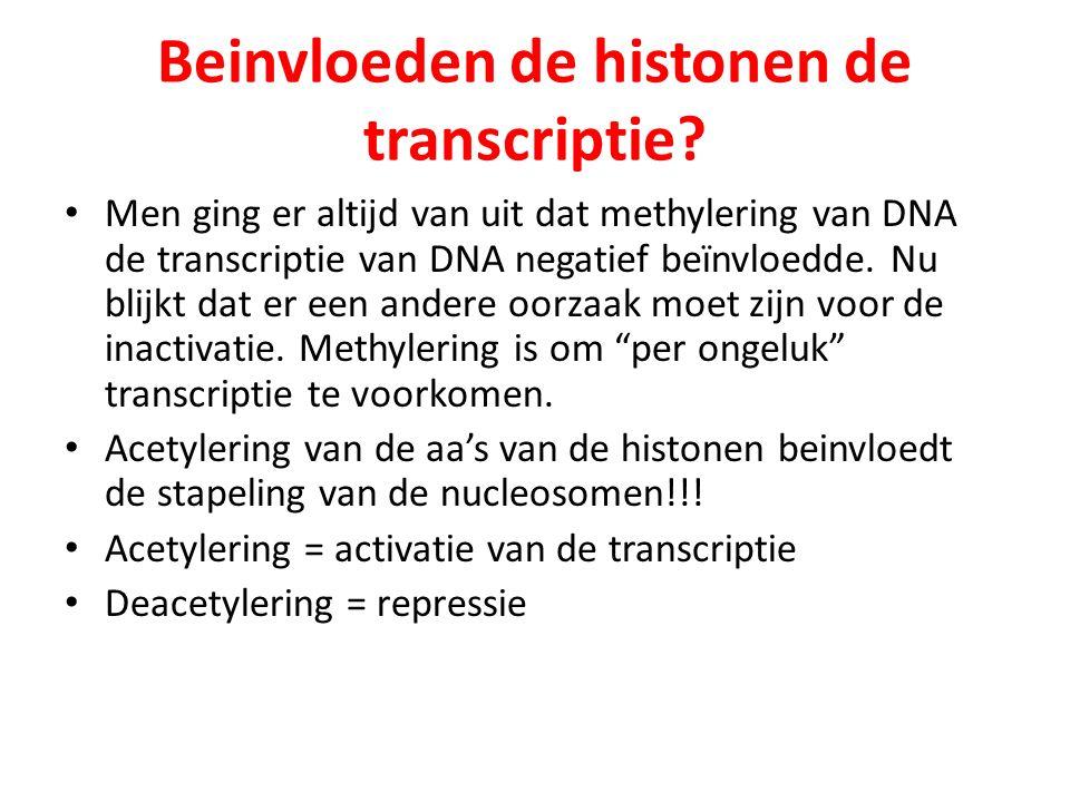 Beinvloeden de histonen de transcriptie