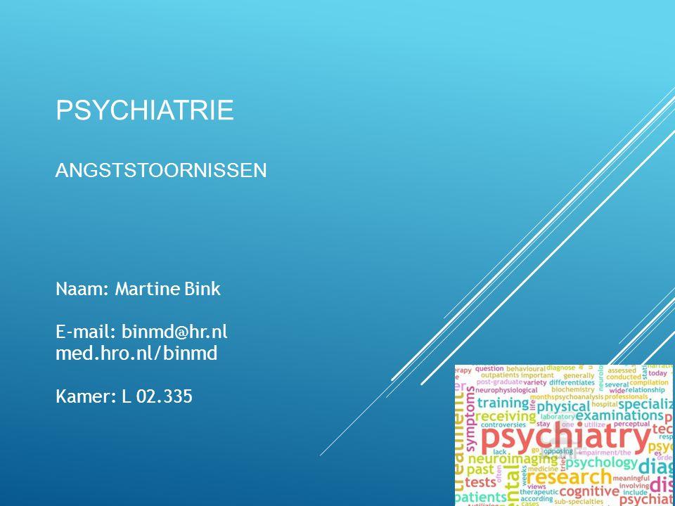 PSYCHIATRIE ANGSTSTOORNISSEN