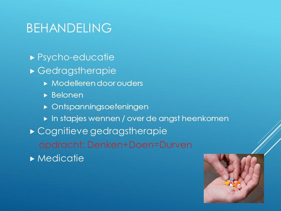 Behandeling Psycho-educatie Gedragstherapie Cognitieve gedragstherapie