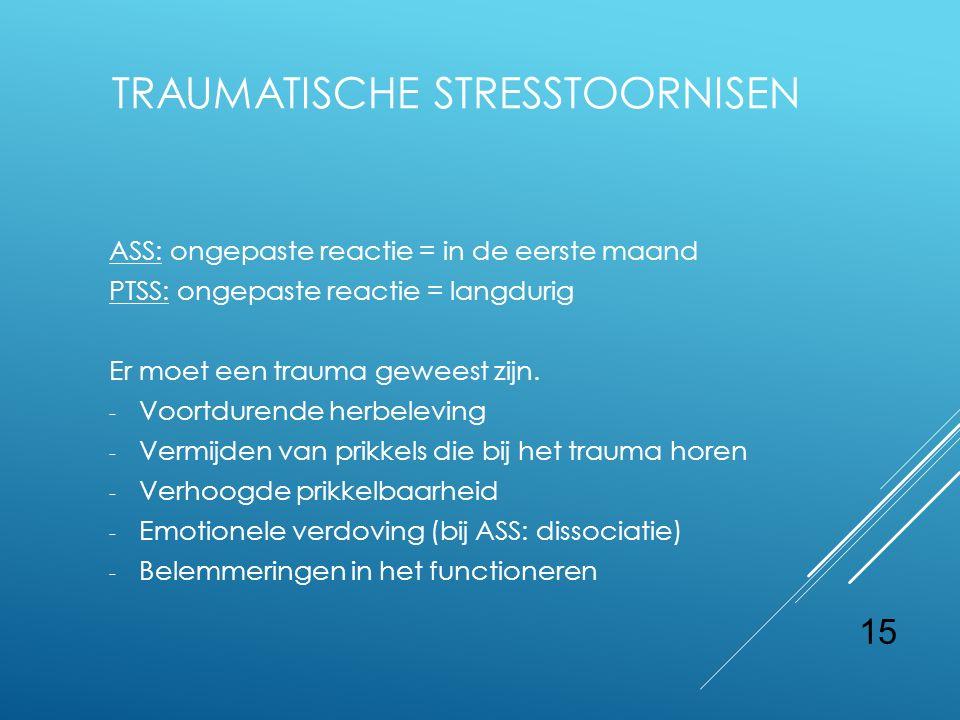TRAUMATISCHE STRESSTOORNISEN