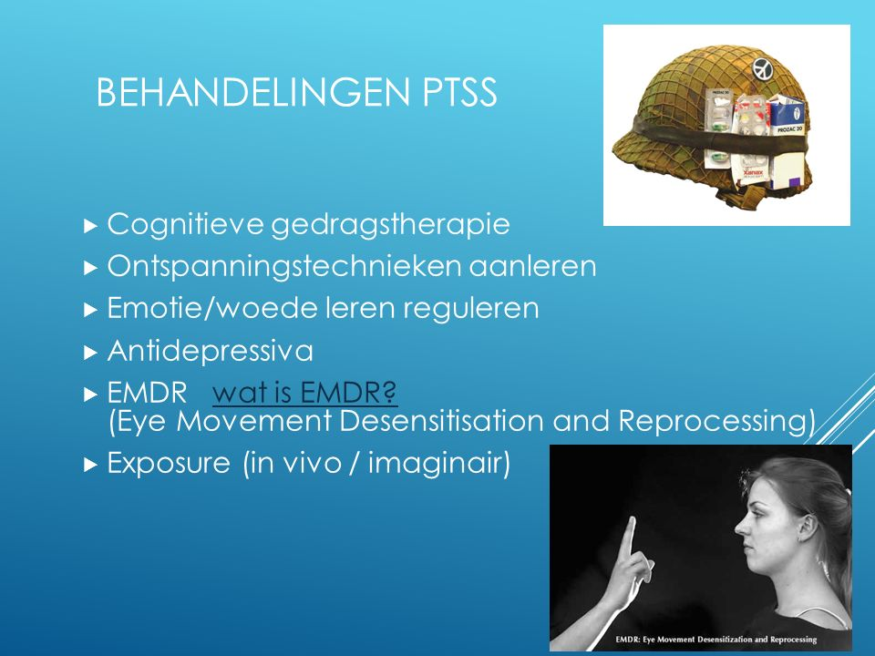 Behandelingen PTSS Cognitieve gedragstherapie