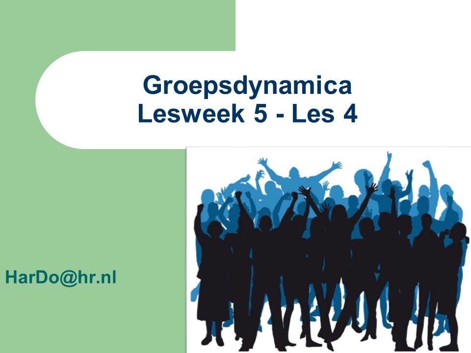 Groepsdynamica Lesweek 5 - Les 4