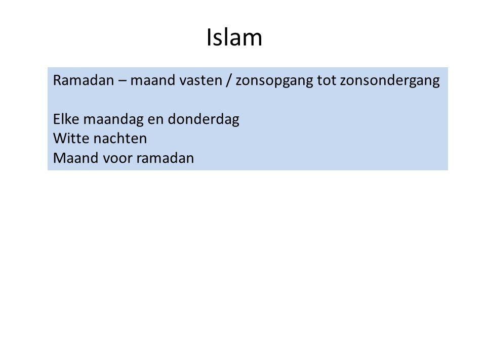 Islam Ramadan – maand vasten / zonsopgang tot zonsondergang