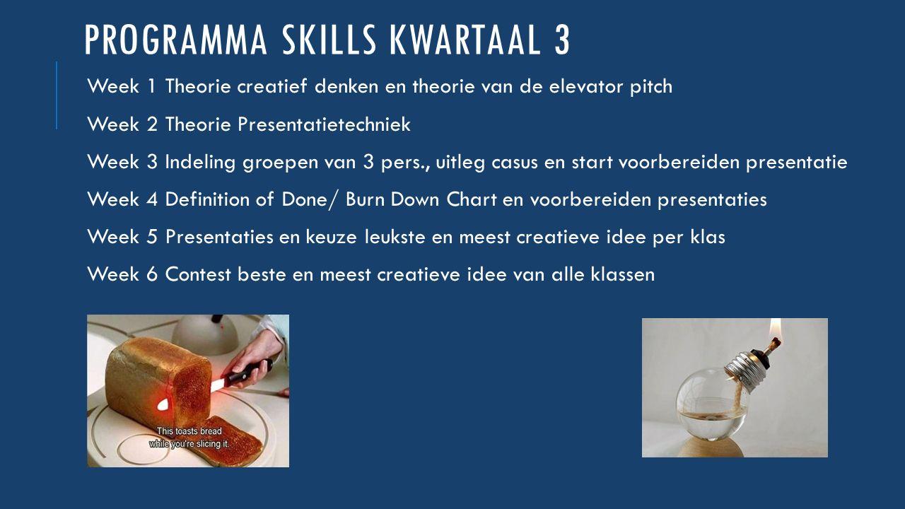 Programma skills kwartaal 3