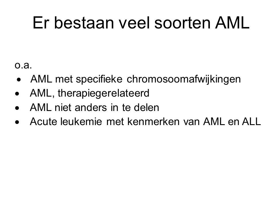 Er bestaan veel soorten AML
