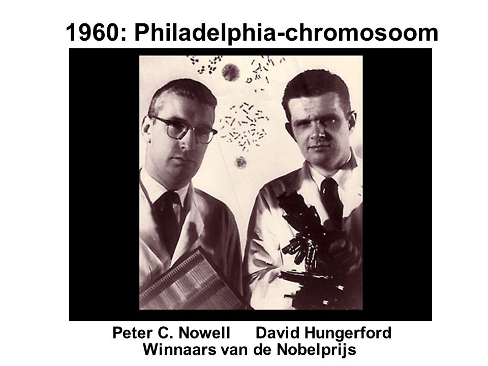 1960: Philadelphia-chromosoom Winnaars van de Nobelprijs