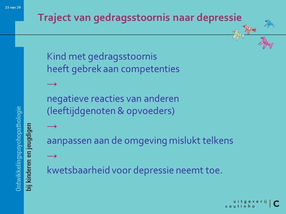 Traject van gedragsstoornis naar depressie
