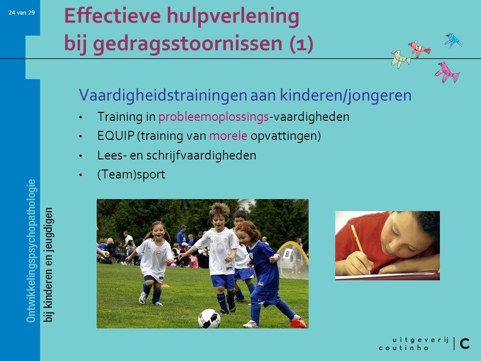 Effectieve hulpverlening bij gedragsstoornissen (1)