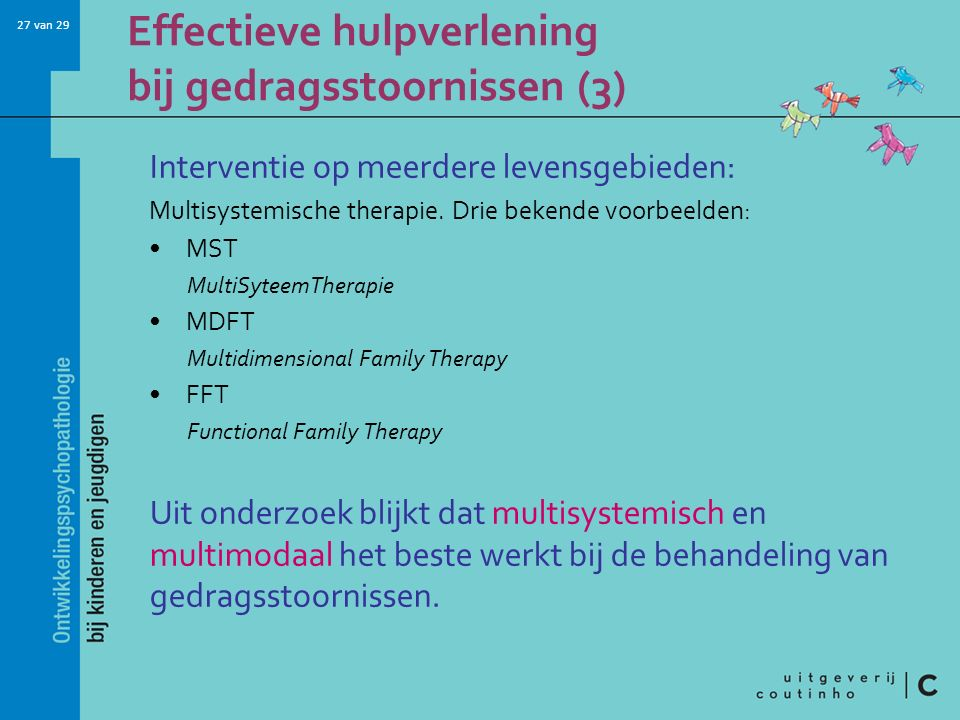 Effectieve hulpverlening bij gedragsstoornissen (3)