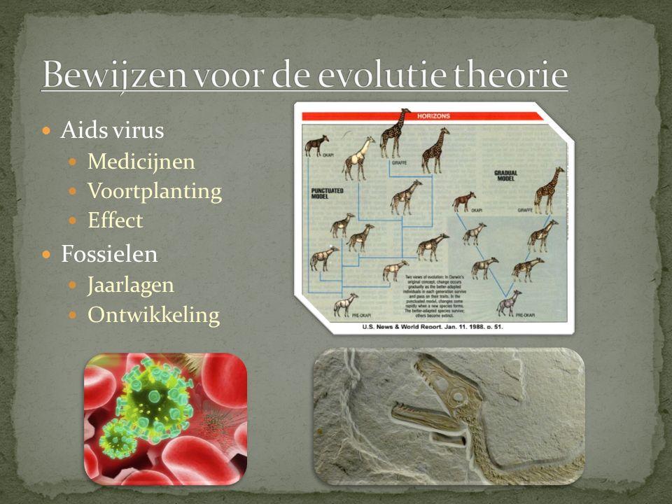 Bewijzen voor de evolutie theorie