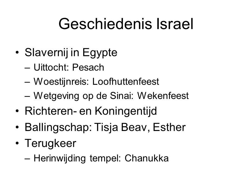 Geschiedenis Israel Slavernij in Egypte Richteren- en Koningentijd