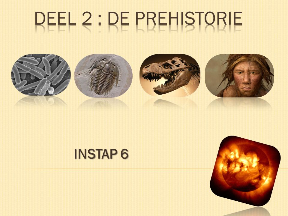 DEEL 2 : DE PREHISTORIE INSTAP 6