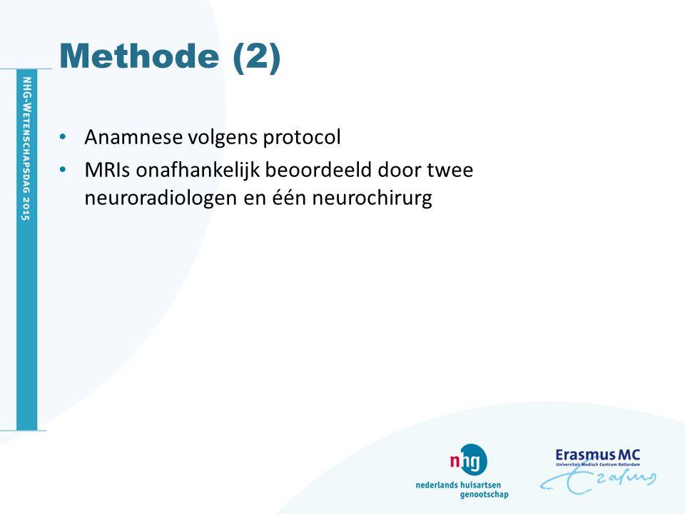 Methode (2) Anamnese volgens protocol