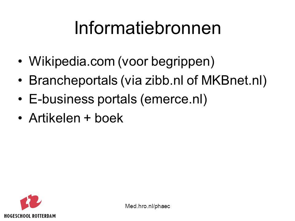 Informatiebronnen Wikipedia.com (voor begrippen)