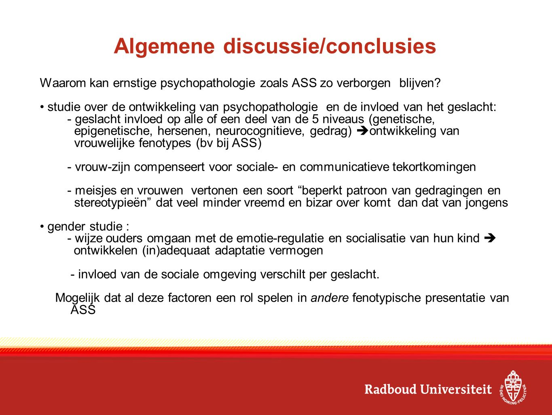 Algemene discussie/conclusies