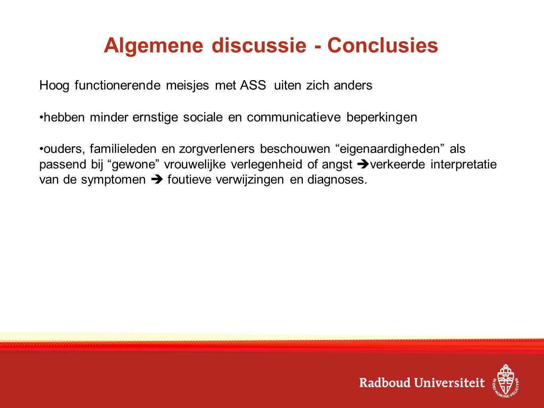 Algemene discussie - Conclusies