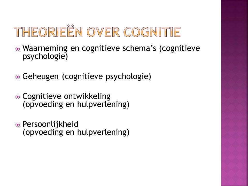 Theorieën over cognitie