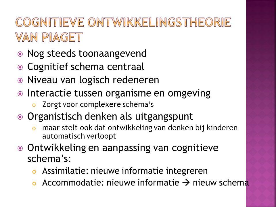 Cognitieve ontwikkelingstheorie van Piaget
