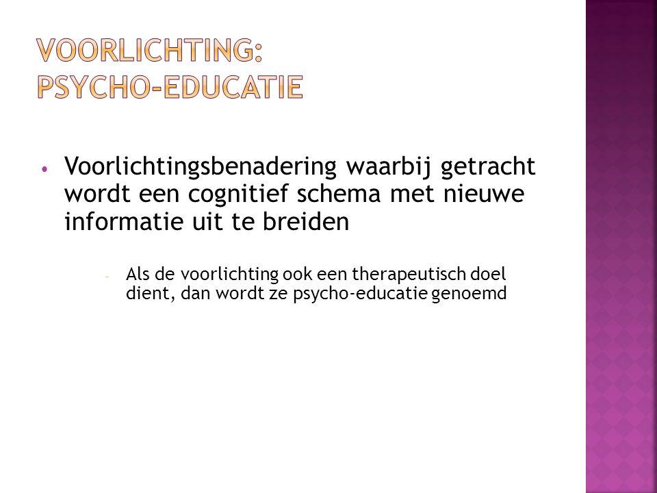 Voorlichting: psycho-educatie
