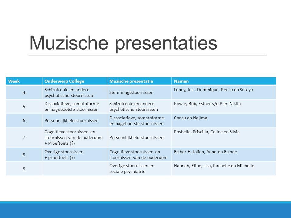 Muzische presentaties