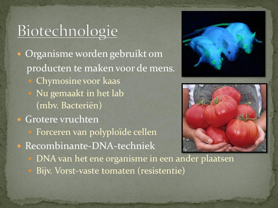 Biotechnologie Organisme worden gebruikt om