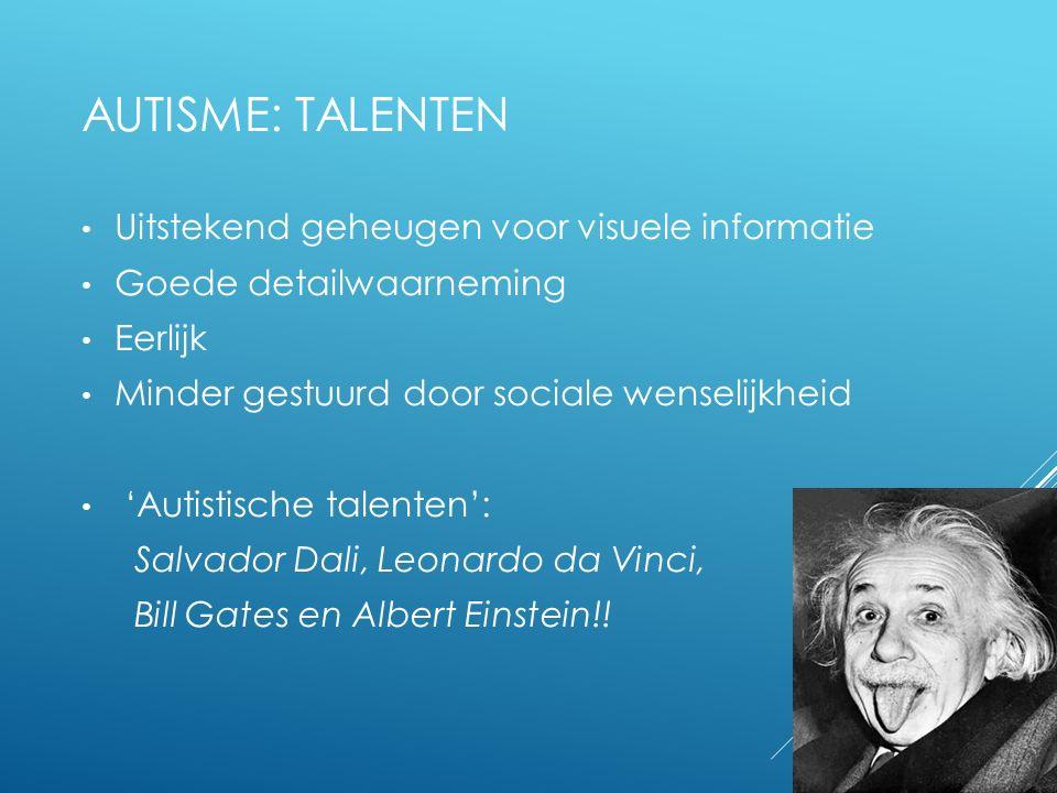 Autisme: talenten Uitstekend geheugen voor visuele informatie