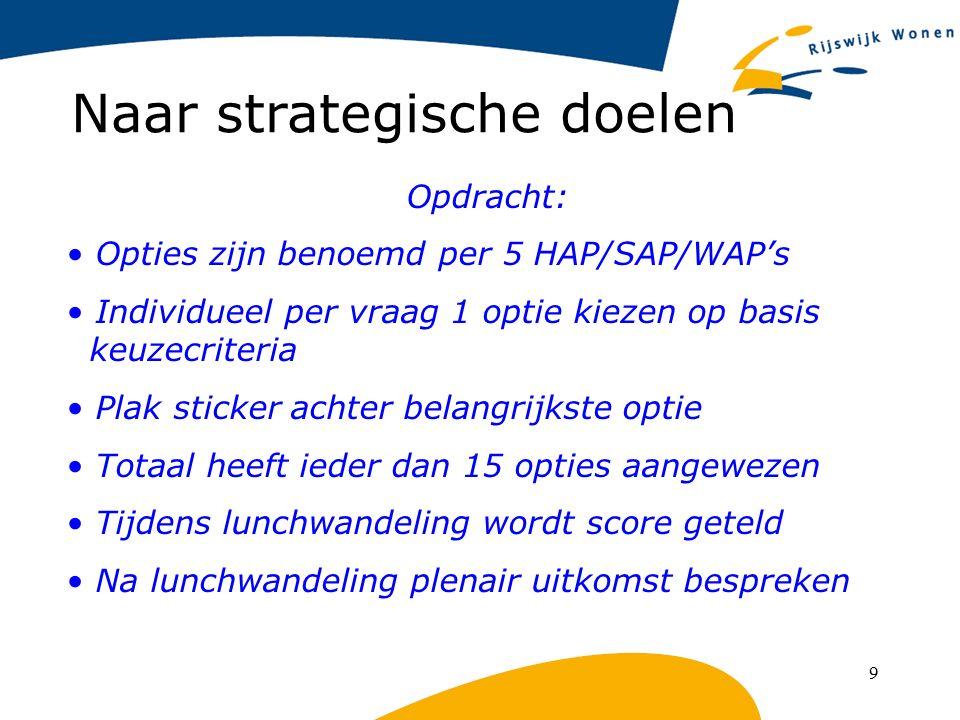 Naar strategische doelen