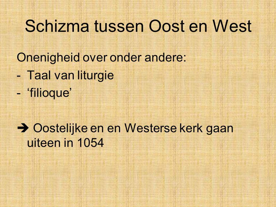 Schizma tussen Oost en West