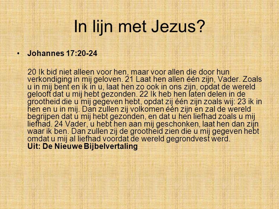 In lijn met Jezus Johannes 17:20-24