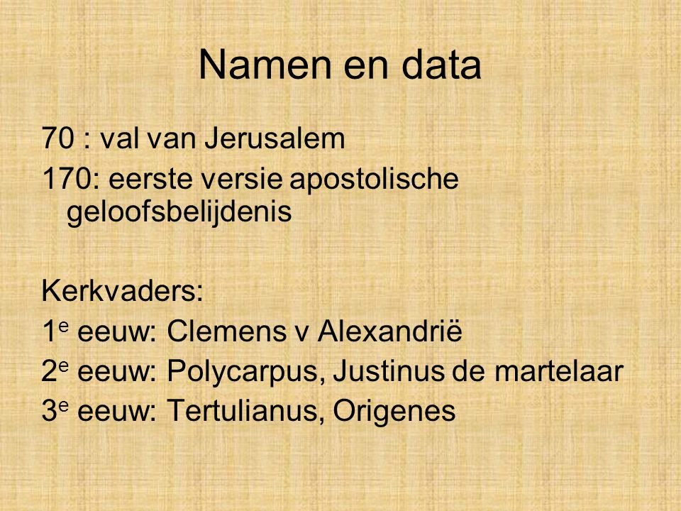 Namen en data 70 : val van Jerusalem