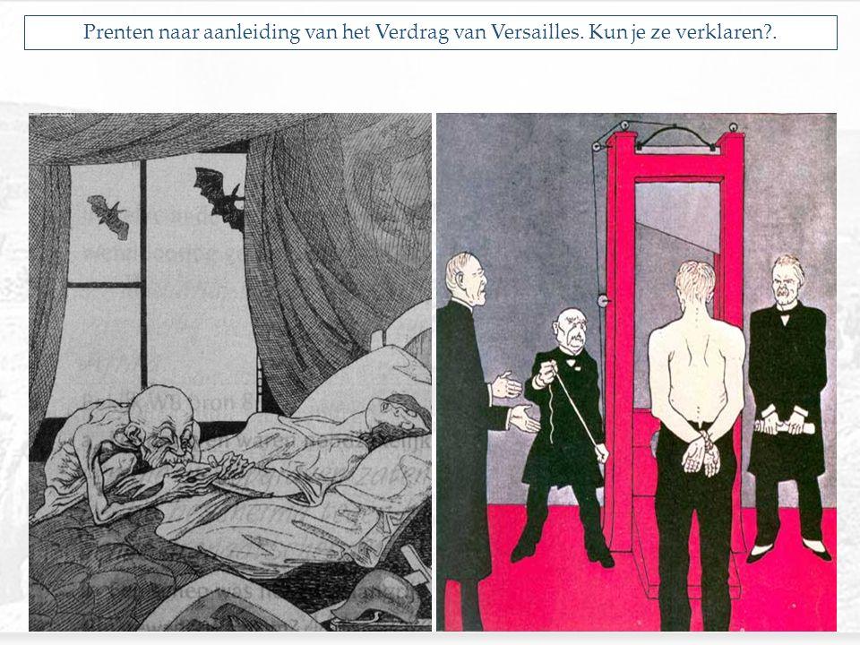 Prenten naar aanleiding van het Verdrag van Versailles